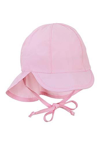 Sterntaler Baby-Mädchen Schirmmütze mit Nackenschutz Mütze, Rosa (Rosa 724), Gr.41