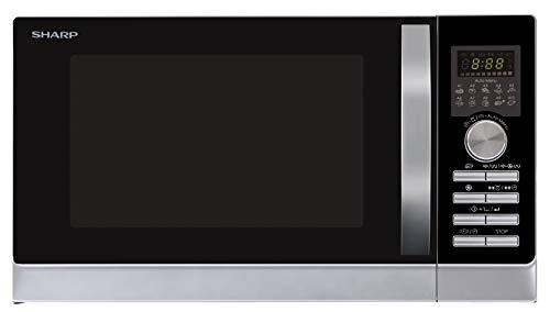 Sharp R843INW 4-in-1 Mikrowelle mit Heißluft, Grill und Konvektion / 25 L / 800 W / 1000 W Infrarotgrill /...