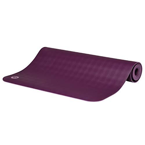BODHI extrem rutschfeste Yogamatte ECOPRO aus 100% Natur-Kautschuk (185x60cm, 4mm stark, 1,6kg),...