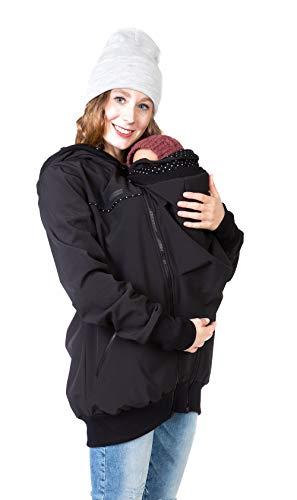 Viva la Mama Tragejacke Rückentrage Baby hinten und vorn tragen Regenjacke Windjacke Softshell Mantel...