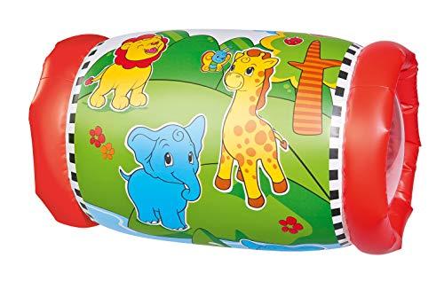 Simba 104010015 104010015-ABC Krabbelrolle mit 2 Rasselbällen, Multi