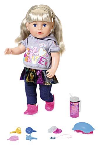 Zapf Creation 824603 BABY born Soft Touch Sister Blond Puppe mit Funktionen und Zubehör 43 cm