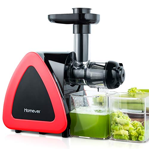 Slow Juicer Entsafter, Homever Entsafter Obst und Gemüse, Kauen entsafter mit Ruhiger Motor und...