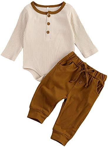 Neugeborene Baby Boy Hose Top Langarm Strampler Bodysuit Kordelzug Hose Pyjama Winter Warme Kleidung Set...