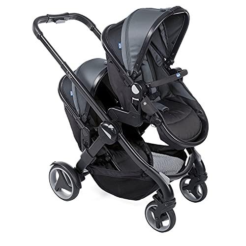 Chicco Fully Twin Doppelkinderwagen von 0 Monaten bis 15 kg, Umwandelbar in Zwillingskinderwagen, Doppelbuggy...