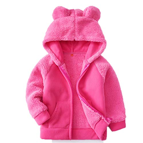 FeiliandaJJ Baby Fleece Mantel Mädchen Jungen Winter Warm Hooded Jacken Cute Cartoon Teddy Outwear...