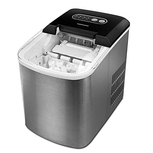 MEDION Eiswürfelmaschine (Eiswürfelbereiter, 2,2 Liter Wassertank, kurze Produktionsdauer 6-12 Minuten, 2...