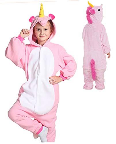 Seawhisper Einhorn Kostüm Kinder Faschingskostüm Onesie Pyjamas Jumpsuit Tier Kostüm Mädchen Junge 110...