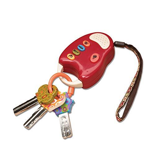 B. toys – FunKeys – Bunte Spielzeugschlüssel Rot für Kinder und Babys – Autoschlüssel Spielzeug mit...
