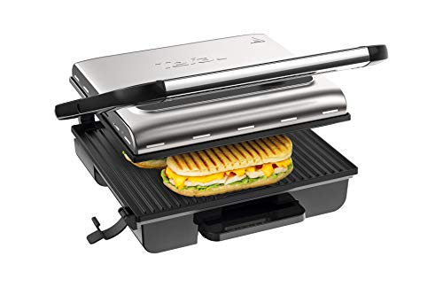 Tefal Kontaktgrill Inicio Adjust GC242D   Elektrogrill / Sandwichtoaster   Fettarmes Grillen   Panini, Toasts,...