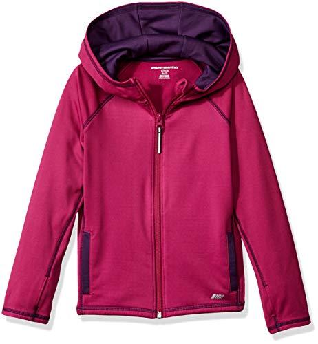 Amazon Essentials Mädchen-Jacke mit durchgehendem Reißverschluss, Fuchsia, US XS (EU 104-110 CM)