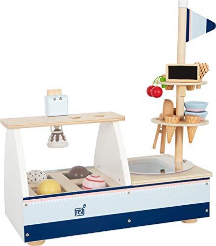 Small Foot 11815 Eistheke Fresh aus Holz, Zubehör für Kinderküche und Kaufladen, Rollenspielzeug für...