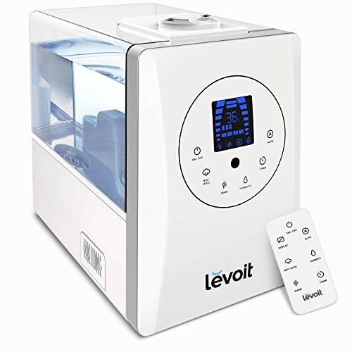 Levoit Ultraschall Luftbefeuchter Raumbefeuchter 6L Warm/Kalt Dampf mit Fernbedienung und Feuchtemonitor, Dual...