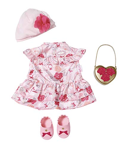 Zapf Creation 702031 Baby Annabell Deluxe Set Blumen 43cm, rosa, rot