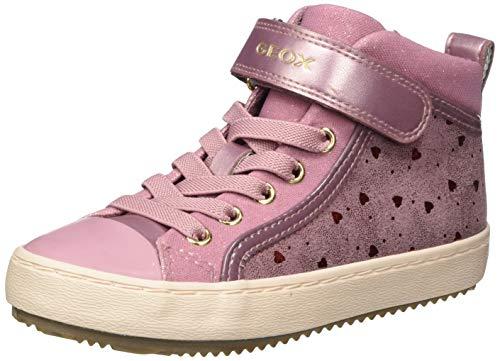 Geox J Kalispera Girl I Sneaker, (Dk Pink), 37 EU