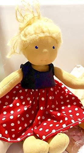 Madita 38cm blond puppe waldorf art inkl 2 Kleidungsstücke Waldorfpuppe stoff