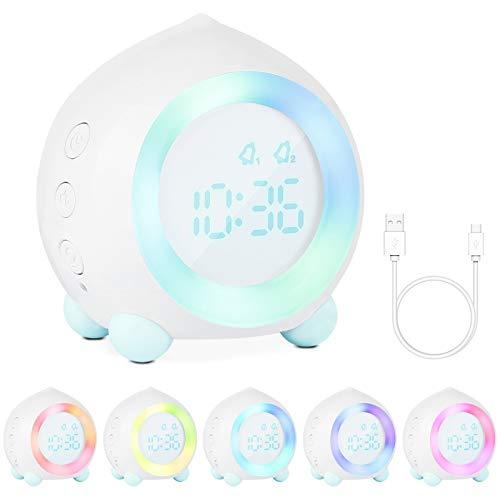 Gobesty Digitaler Wecker Kinder, Wecker Digital LED Wecker Leiser Wecker Kein Ticken mit Schlummerfunktion...