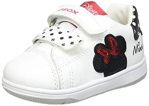 Geox Baby-Mädchen B New Flick Girl A Sneaker, White/Black, 25 EU