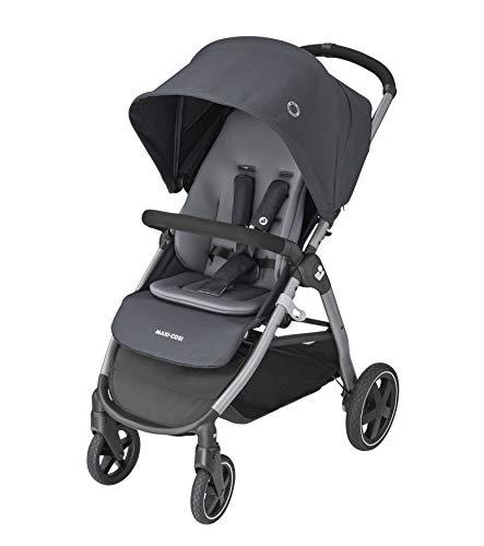 Maxi-Cosi Gia Kompakter Kinderwagen mit bequemem Sitz, All-Terrain Kinderwagen ab Geburt, Essential Graphit