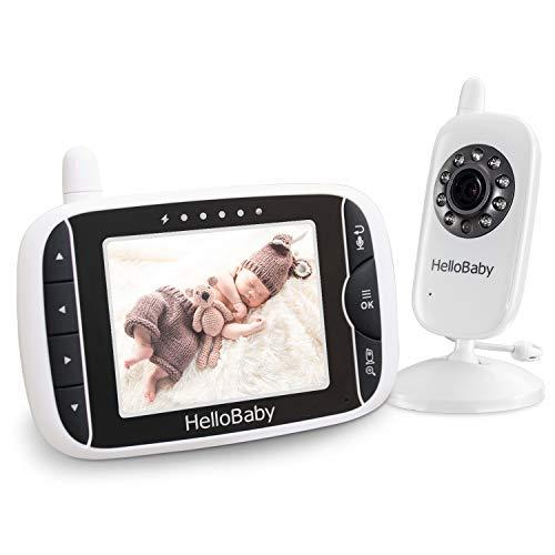HelloBaby HB32 Wireless Video Babyphone mit Digitalkamera, VOX Funktion, Nachtsicht Temperaturüberwachung & 2...