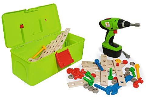 Eichhorn 100039079 Constructor Werkzeugbox, inkl. kompakt Schrauber, Erweiterungsteile, 70 teilig, FSC 100...
