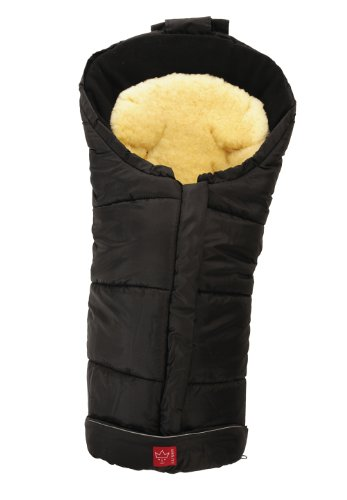 Kaiser 6571125 - Fußsack 'Sheepy', Farbe schwarz