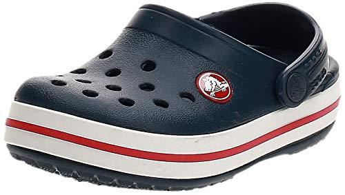 crocs Unisex-Kinder Crocband K Clogs, Blau (Navy/Red), 34/35 EU