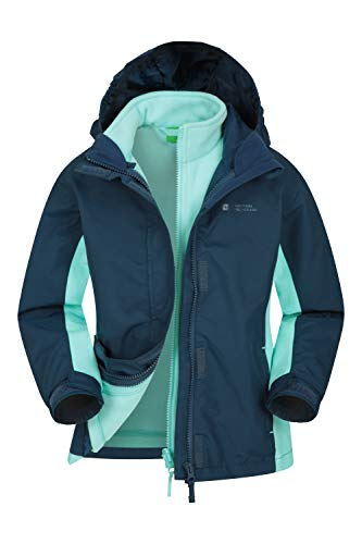 Mountain Warehouse Lightning wasserfeste 3-in-1-Kinder-Jacke - Triclimate-Jacke mit versiegelten Nähten,...