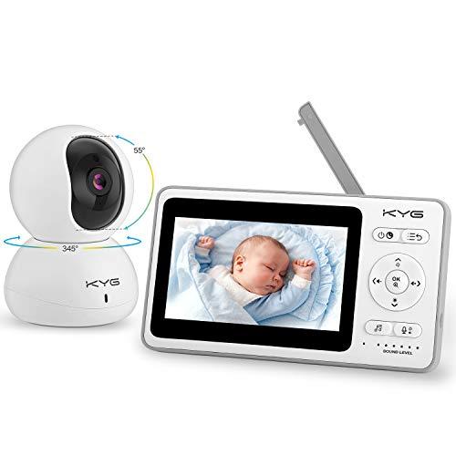 Babyphone mit Kamera Video Babyphone 4,3 Zoll Smart Baby Monitor mit TFT LCD Bildschirm Nachtsichtkamera...