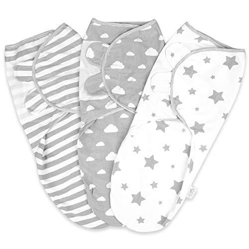 Pucksack Baby 0-3 Monate Baby Decke Pucktuch Baby Für Neugeborene von 0-3 Monate Swaddle Decke aus 100%...