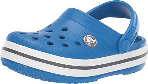 Crocs Unisex-Kinder Crocband Kids Clogs, Blau (Bright Cobalt-Charcoal 4jn), 29/30