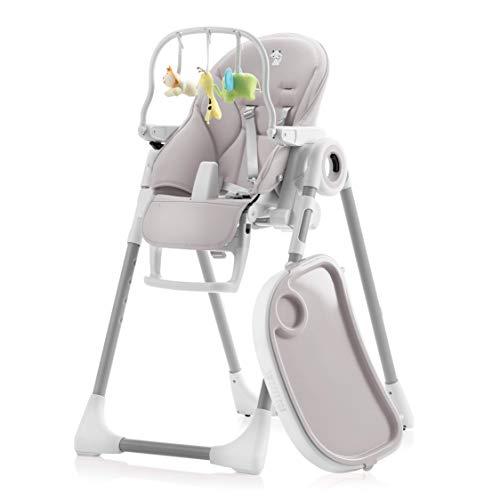 Mitwachsender Hochstuhl Baby, Verstellbar und Klappbar - 7 Höhen, Verstellbare Rückenlehne Kind 5...