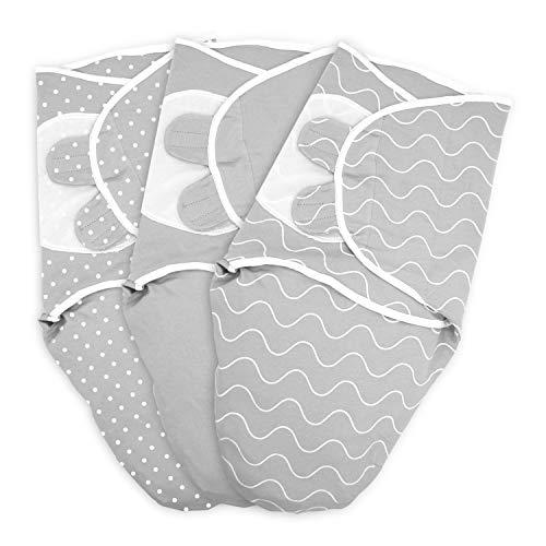 TALINU Baby Pucksack aus 100% Baumwoll Jersey, mit Klettverschluss, Größe L: 4-6 Monate, Wickeldecke,...