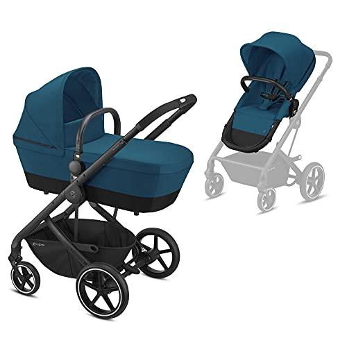 CYBEX Balios S 2-in-1 Kinderwagen, Einhand-Faltmechanismus, Ab Geburt bis 22 kg (ca. 4 Jahre), River Blue mit...
