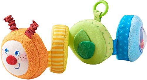 HABA 303246 - Spielfigur Raupe Mina | Baby-Spielzeug aus Stoff mit vielen Spieleffekten zum Entdecken...