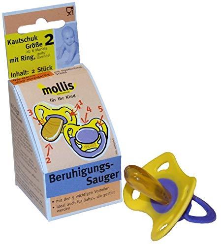 Mollis Schnuller Gr. 2 mit Ring Kautschuk 2 St.