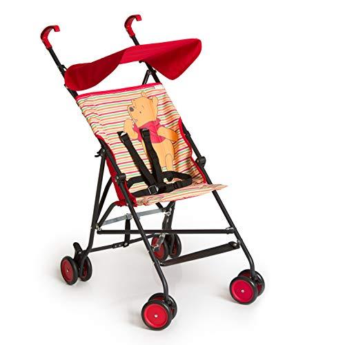 Hauck Sun Plus Disney Buggy, klein zusammenfaltbar, für Kinder ab 6 Monate bis 15 kg, rot (Pooh Spring...