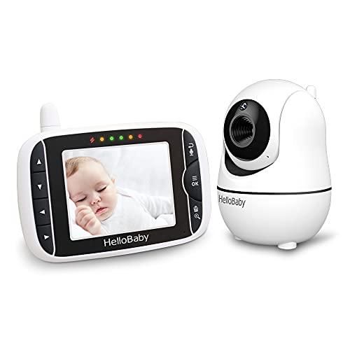 Babyphone mit Kamera,Baby Monitor,Baby-Monitor mit Kamera Babyphone mit ferngesteuerter Pan-Tilt-Zoom-Kamera...