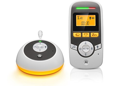 Motorola MBP161TIMER - Digitales Audio Babyphone mit Display und Baby Care Timer - Weiß