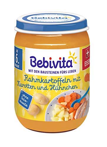 Bebivita Rahmkartoffeln mit Karotten und Hühnchen, 6er Pack (6 x 190 g)