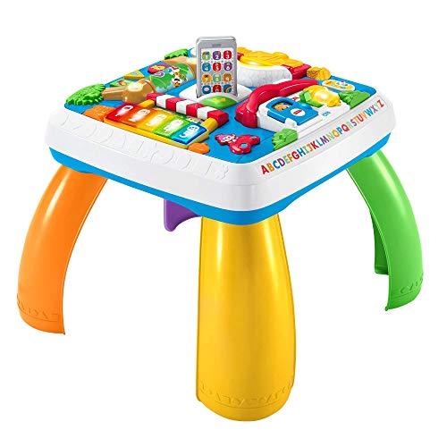 Fisher-Price HBB67 Lernspaß Spieltisch, Lernspielzeug mit Lichtern, Sätzen und Liedern, mitwachsenden...