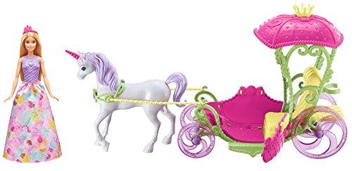 Barbie DYX31 - Dreamtopia Prinzessin, Einhorn und Kutsche, Puppen Spielset mit Zubehör, Mädchen Spielzeug ab...