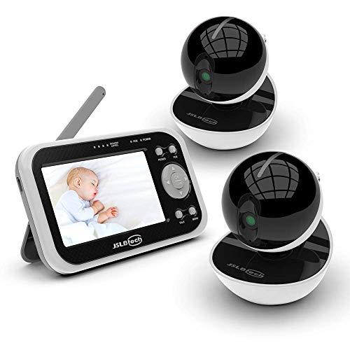 JSLBtech Video Babyphone mit 2 kamera 4,3'...