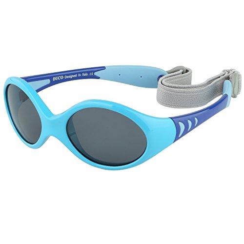 DUCO Kinder Sonnenbrille Polarisierte Sportbrille TPEE Flexibeles Gestell für Baby Mädchen oder Junge 0-24...