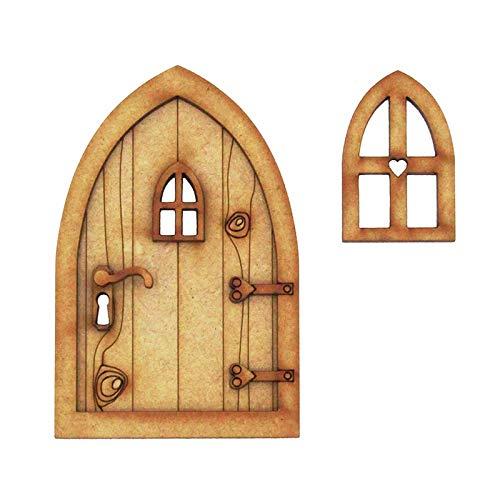 Blssom beliebteste Wichteltür, Feentür, Mäusetür, Elfentür aus Holz Zum öffnen mit Lustigem...