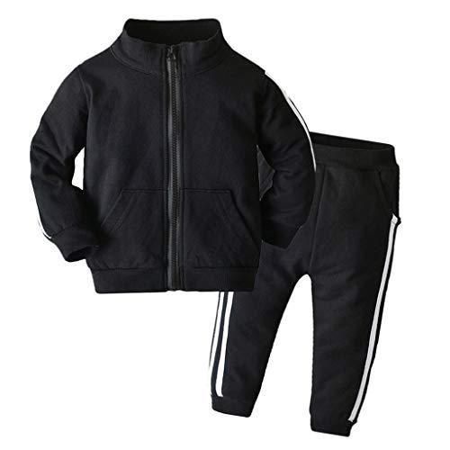 VICKY-HOHO Günstige Kinderbekleidung Sommer, 3-4 Jahre Kleinkind Baby Jungen Mädchen Langarm Mantel Hose...