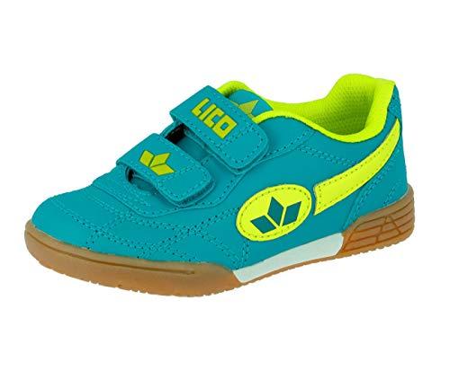 Lico Bernie V Unisex Kinder Multisport Indoor Schuhe, Petrol/ Lemon, 27 EU