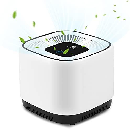 Luftreiniger mit True HEPA Filter, Tragbar Air Purifier mit UV-licht Keimtötung Verbesserter Desktop...