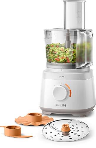 Philips HR7310/00 Küchenmaschine Daily Collection (700 W, 16 Funktionen, 2L Füllkapazität, 2-in-1...