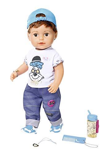 Zapf Creation 827826 BABY born Soft Touch Brother Puppe mit lebensechten Funktionen und Zubehör, bewegliche...